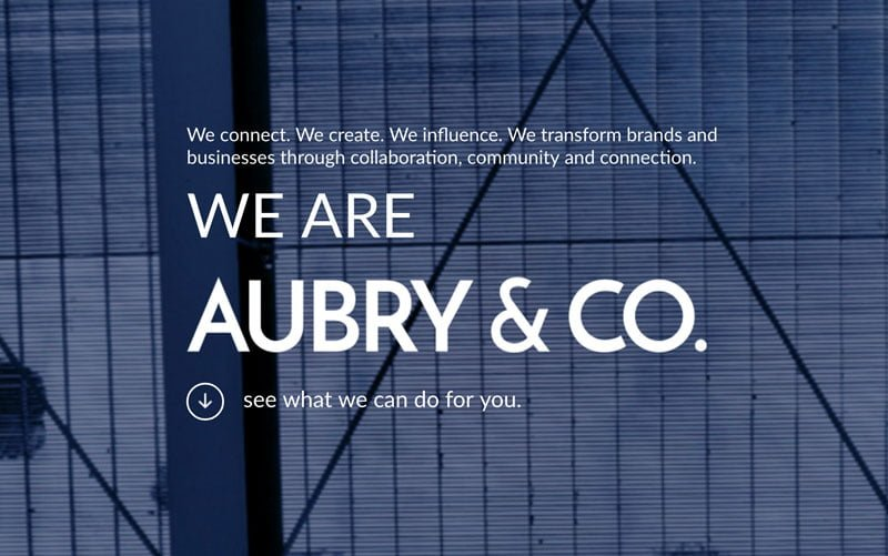 AUBRY & CO. Logo + Website