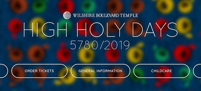 WBT High Holy Days Marketing